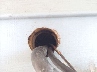 utility lines into house
