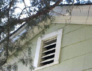 attic vents on an Upstate New York home